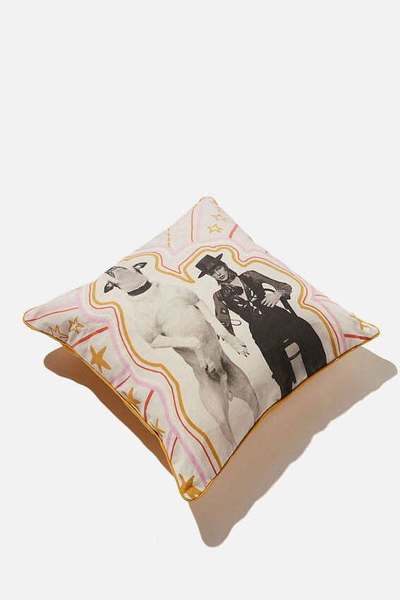 Square Cushion, LCN ICO TERRY ONEILL MAN & DOG