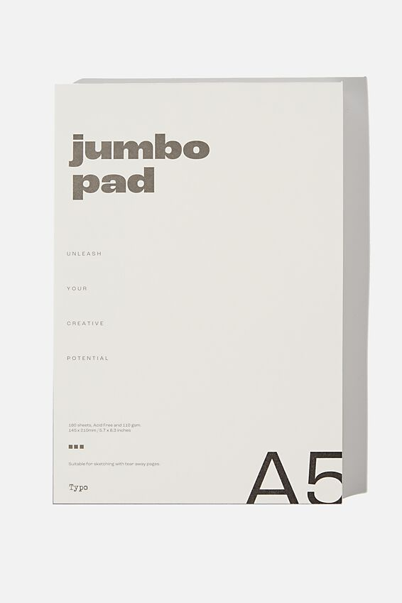 The Chunky A5 Art Pad, WHITE