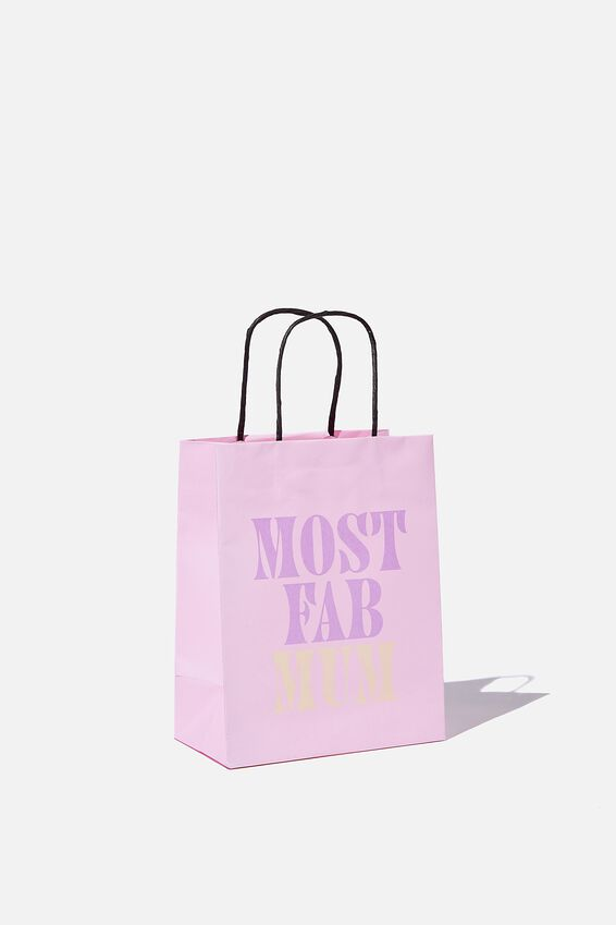 Get Stuffed Gift Bag - Small, LILAC MOST FAB MUM