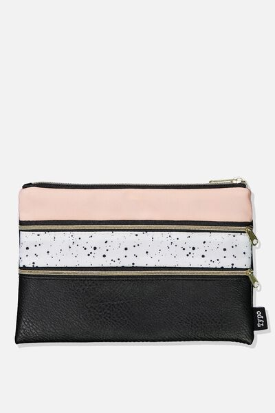Double Archer Pencil Case, SPECKLE COMBO