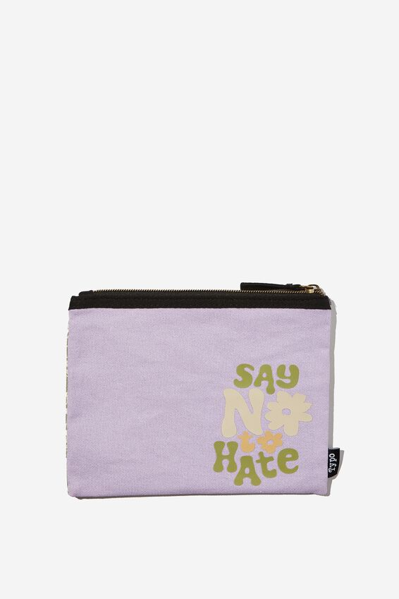 Spinout Pencil Case, SAY NO TO HATE