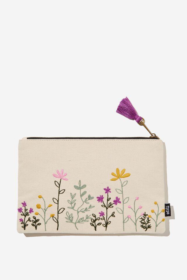Cottage Pencil Case, FLOWER GARDEN
