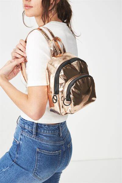 Mini Madrid Backpack, ROSE GOLD