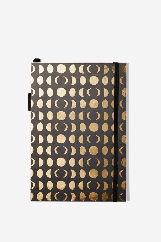 """A5 Open Seam Notebook (8.27"""" x 5.83""""), MOON PHASES"""