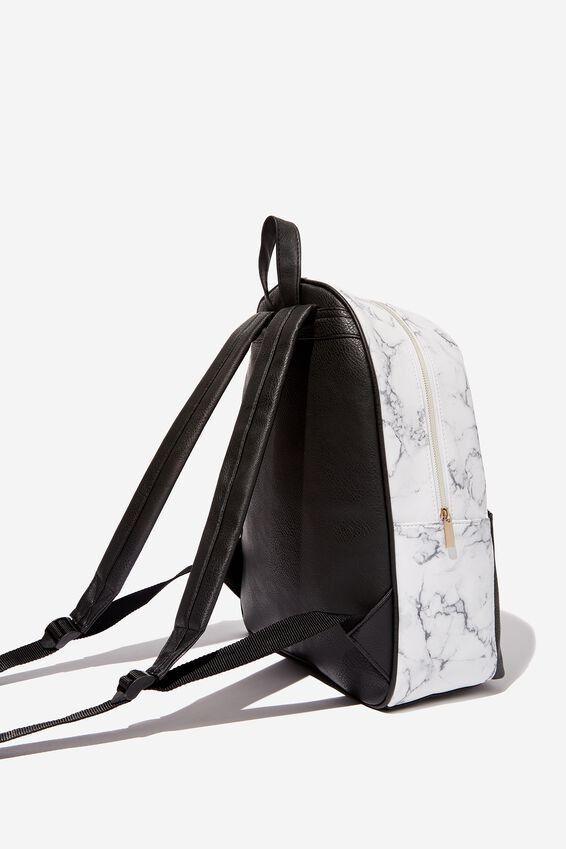 Scholar Backpack, WHITE MARBLE