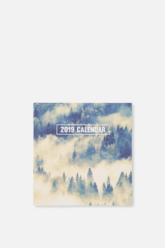 2019 Mini Square Calendar, NATURE