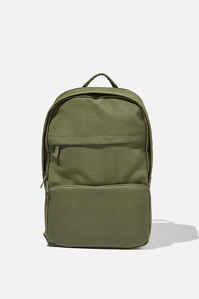 Formidable Backpack 15 Inch Coated Canvas, OLIVE OIL