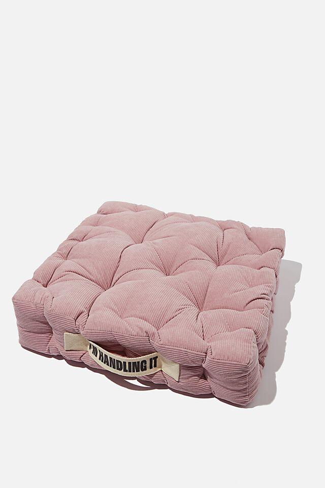 Floor Cushion, MAUVE AMETHYST CORDUROY