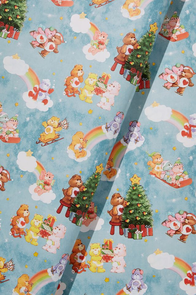 Care Bears Wrapping Paper Roll, LCN CLC CARE BEARS CHRISTMAS