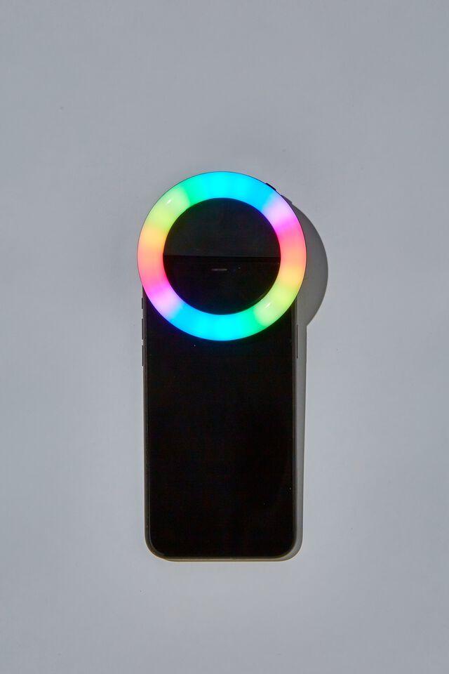 On The Glow Rgb Phone Ring Light, BLACK