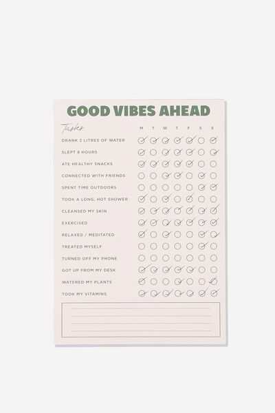 A5 Wellness Tracker, GOOD VIBES AHEAD