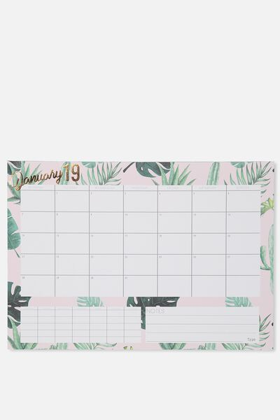 2019 A3 Plan Ahead Planner, MONSTERIA LEAF