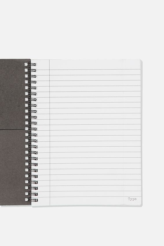 A5 Spinout Notebook Recycled, STAY HOME WITH MY DOG