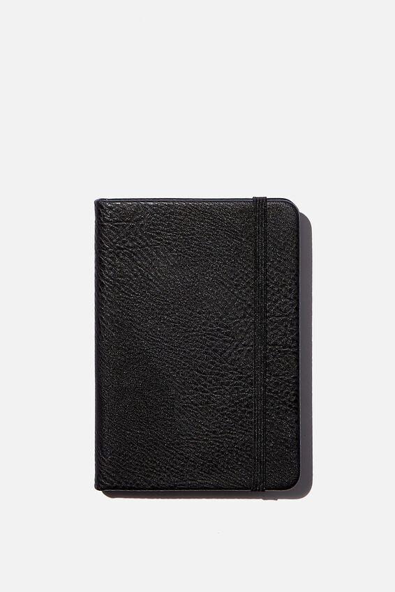 "A6 Buffalo Dot Journal (5.8"" x 4.1""), BLACK"