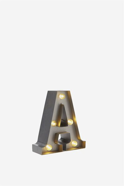 Mini Marquee Letter Lights 10cm, SILVER A