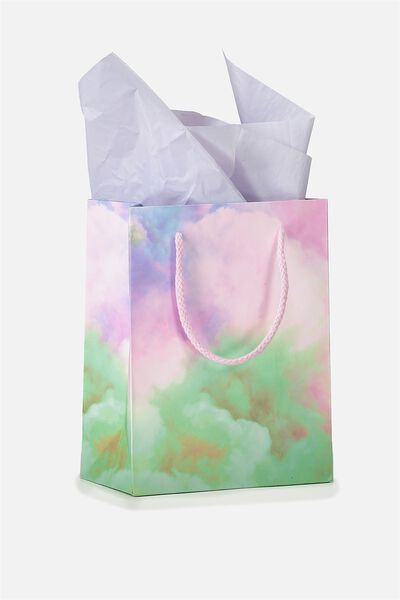 Stuff It Gift Bag Small With Tissue Paper, SMOKE CLOUD