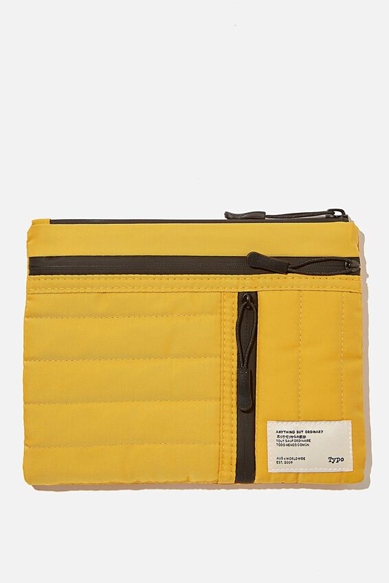 Utility Pencil Case, MUSTARD AND KHAKI