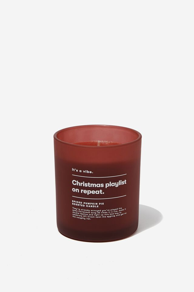 Its A Vibe Candle, RED CHRISTMAS PLAYLIST
