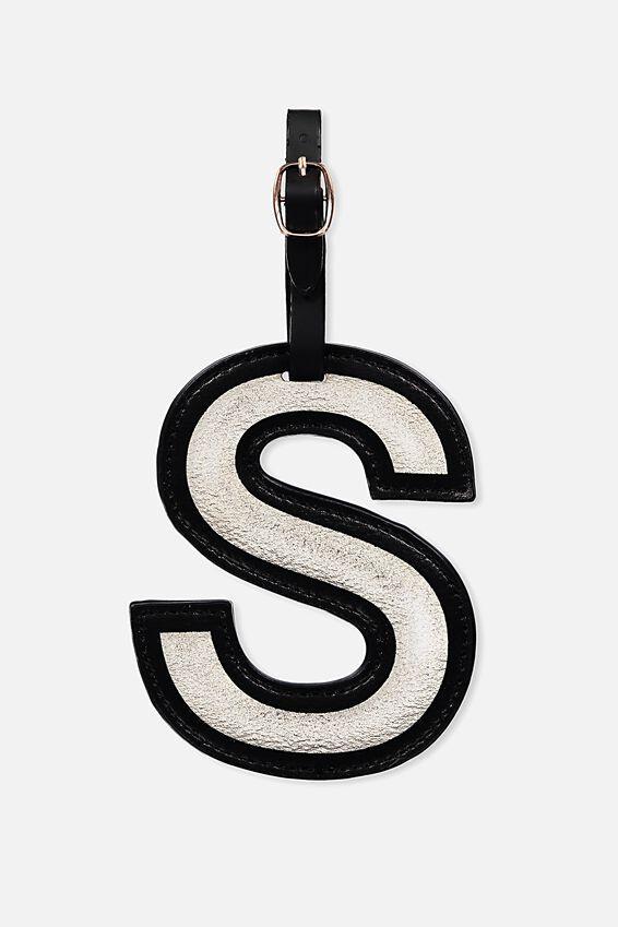 Shaped Alphabet Luggage Tag, S