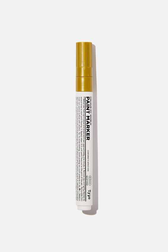Thick Colour My World Paint Marker, GOLD