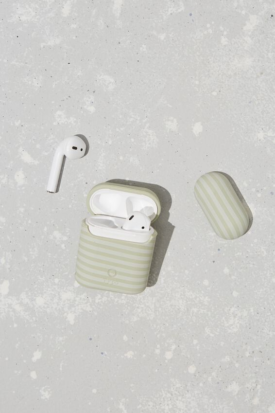 Ear Bud Sleeve, NEUTRAL STRIPE