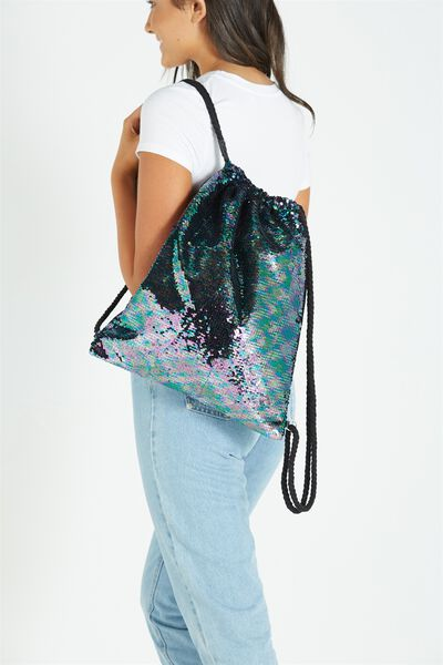 On The Go Backpack, BLACK MULTI SEQUINS