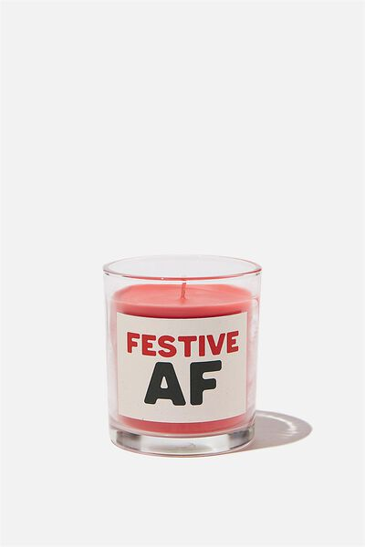 Talk To Me Candle Small, FESTIVE AF!!