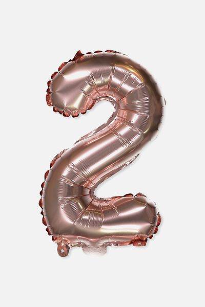 Foil Number Balloons, ROSE GOLD 2