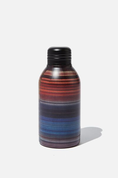 Mini Metal Drink Bottle, OMBRE CHECK