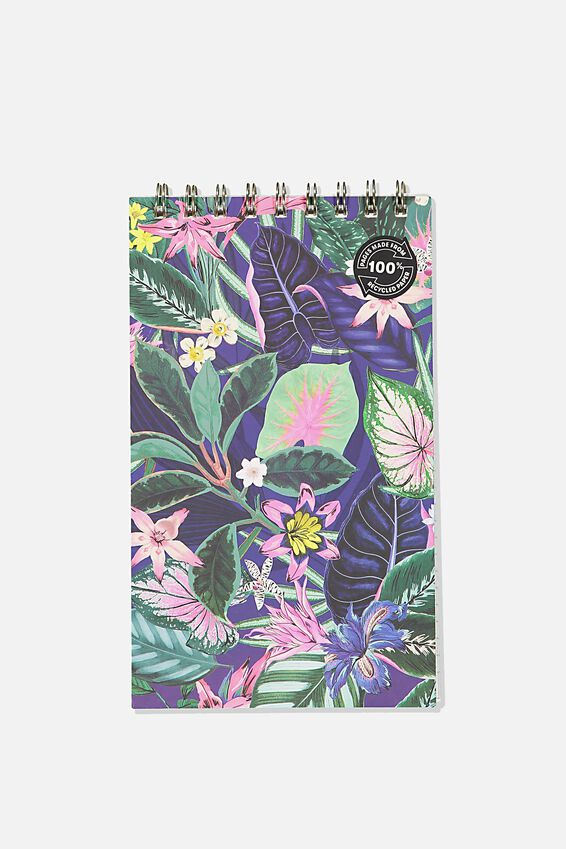 Flipout Notepad Recycled, RESORT FLORAL