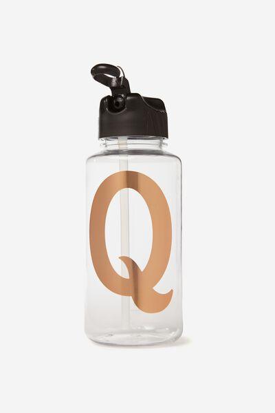 Alphabet Drink Bottle, ROSE GOLD Q