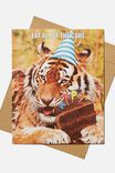 Premium Nice Birthday Card, SCENTED TIGER CAKE DAY CHOCOLATE