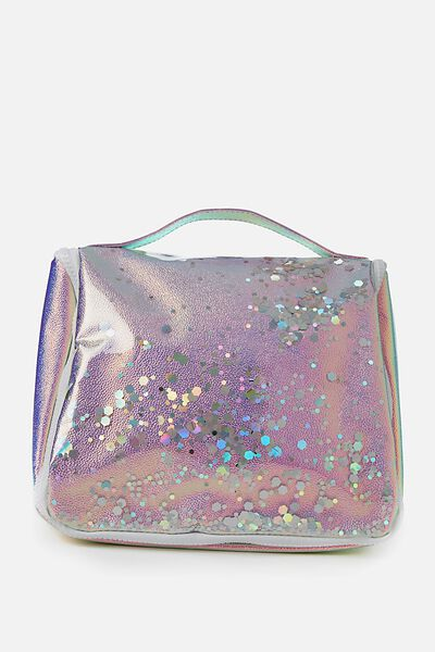 Hanging Cosmetic Bag, IRIDESCENT GLITTER