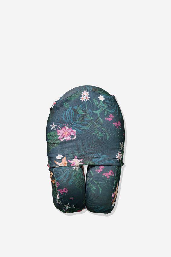 Foam Travel Neck Pillow, JUNGLE FLORAL