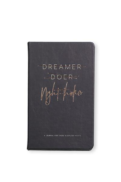 Premium Activity Journal, BLACK NIGHT THINKER