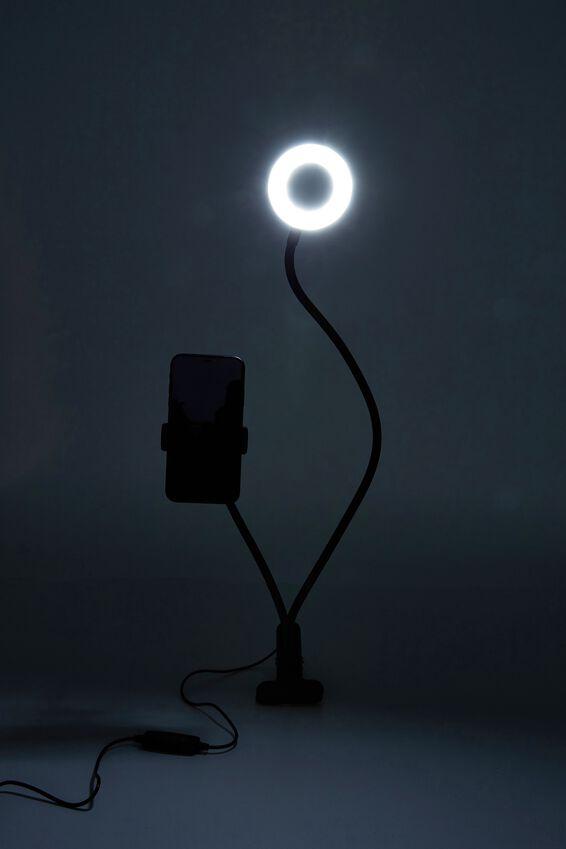 Bend & Snap 9Cm Ring Light, BLACK