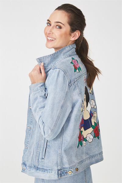 Personalised Typo Denim Jacket, ASSORTED