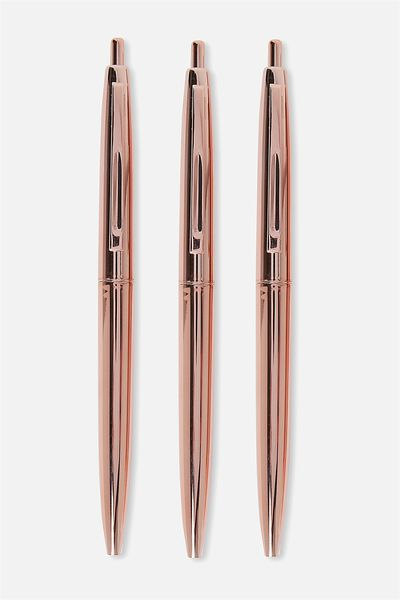 Quote Pen Pack, ROSE GOLD