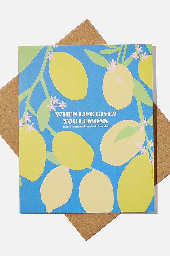 Funny Birthday Card, LIFE GIVES YOU LEMONS