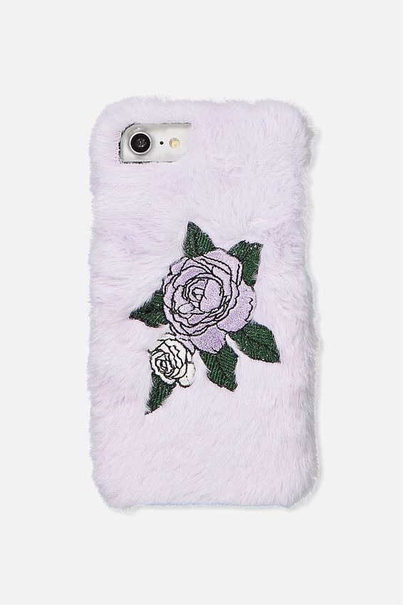 Textured Universal Phone Cover 6, 7, 8, LILAC FAUX FUR