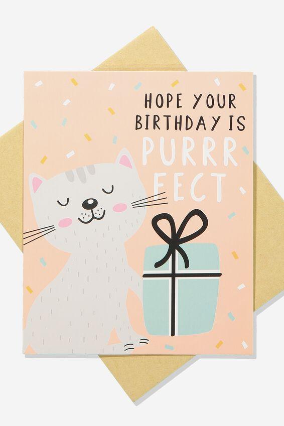Nice Birthday Card, BIRTHDAY PURRFECT