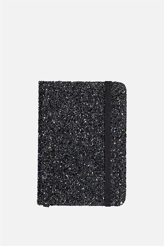 A6 Buffalo Journal, BLK GLITTER