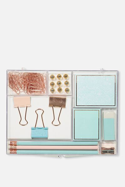 Acrylic Stationery Set, ROSE GOLD LACE