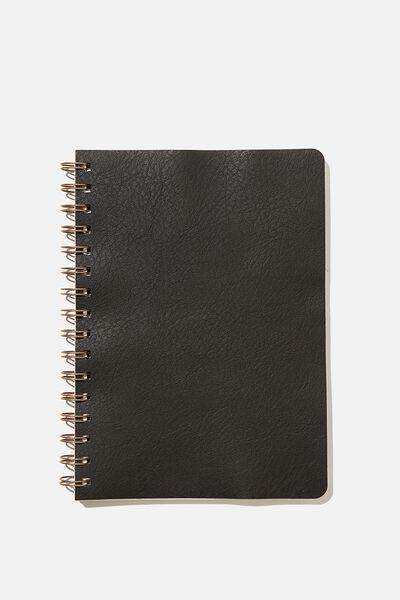 A5 Grid Daily Scribe Journal, JET BLACK