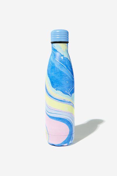 Metal Drink Bottle, COLOURED MARBLE
