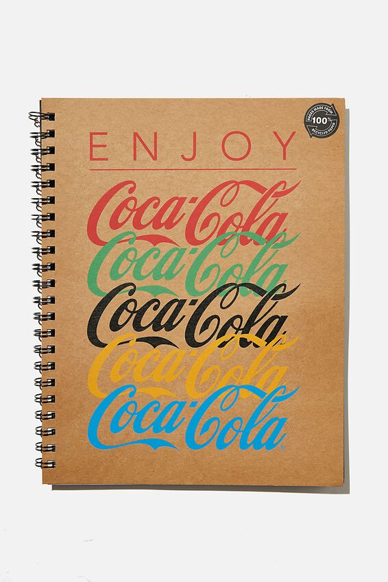 A4 Coca Cola Campus Notebook Recycled, LCN COK ENJOY