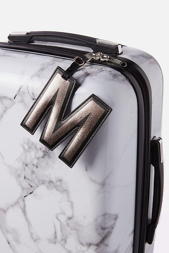 Shaped Alphabet Luggage Tag, M