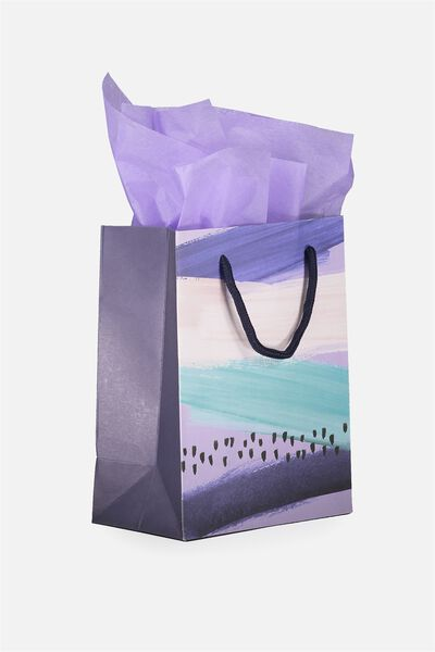 Small Gift Bag with Tissue Paper, MILLENIAL