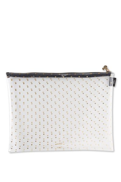 Printed Document Wallet, LCN MICKEY GOLD HEADS
