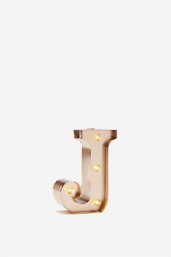 Mini Marquee Letter Lights 10cm, ROSE GOLD J